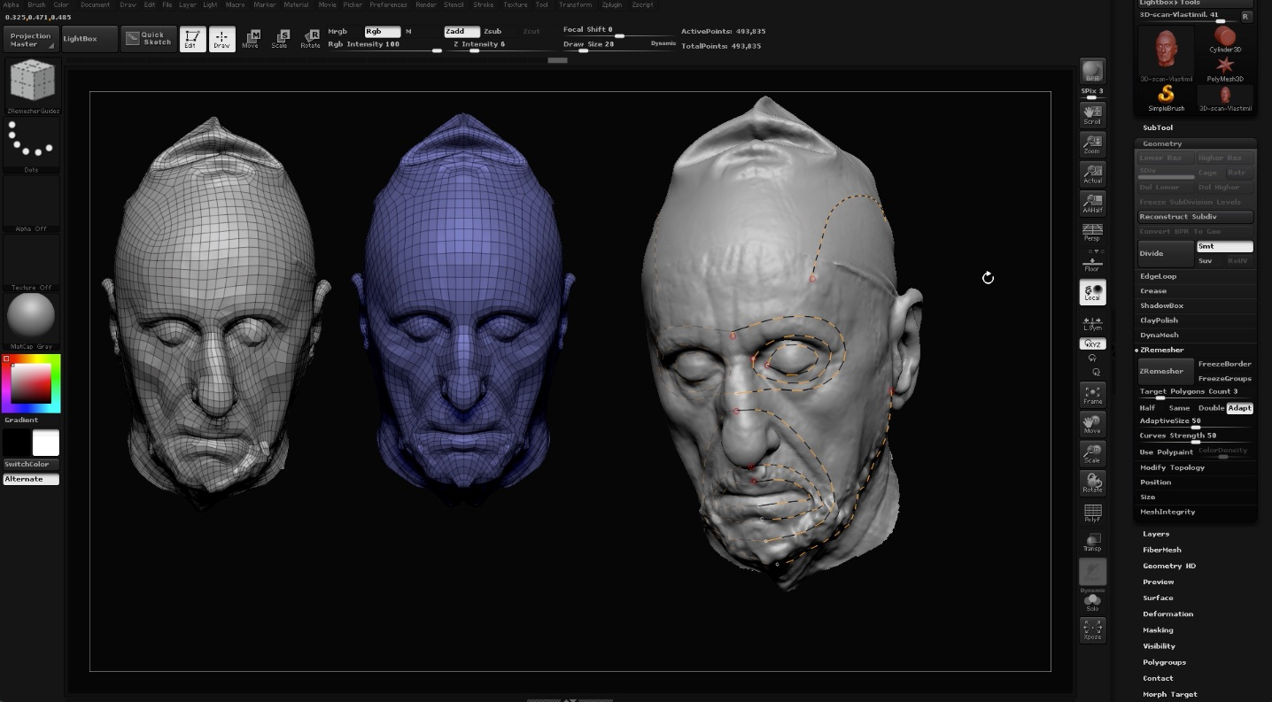 3D scans in Zbrush