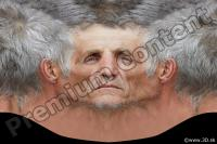 0009 Man head premade texture 0009